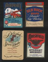 Collectible whisky whiskey bottle labels selection #028